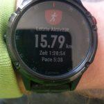 absolvierte Kilometer eines Athleten