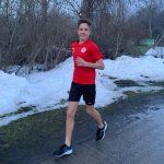 Niels beim Kilometersammeln